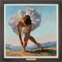 "Hand painted Original Oil Painting art Portrait ballet girl on canvas 30""x30"""