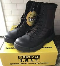 New In Box Classic SWAT Brown Leather Mens Boots Size 9 Tactical Performance