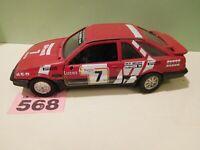 Very Rare Polistil Ford Sierra XR4i # 7 Skip Brown Rally Car 1:25 Scale (568)