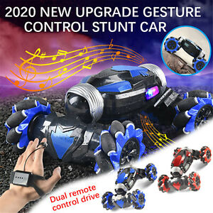 Remote Control Off-Road Gesture Sensing 4WD Double Sided Flip RC Stunt Car CH