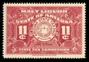 AZ B21 State Revenue ARIZONA 11c Red BEER STAMP SERIES 1942 MNH SEE PHOTOS L-530