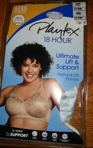 Playtex 18 Hour Bra Wirefree Ultimate Lift True Support Womens 4745 Blue Whimsy