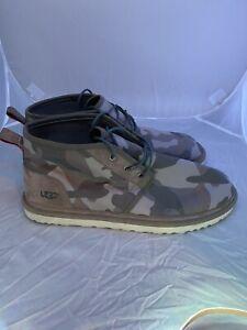 UGG Neumel Camo Chukka Boot Brindle Ripstop Nylon US Size 18 - 1018460