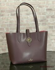 KATE SPADE KACI LEATHER SMALL TOTE SHOULDER BAG PURSE $299 in Chocolate Cherry