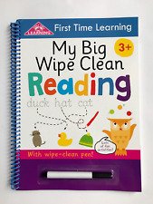 My Big Wipe and Clean first time learning reading book with wipe- clean pen