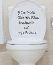 TOILET SEAT BATHROOM WALL ART STICKER DECAL