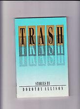 TRASH-DOROTHY ALLISON-1ST 1988-SIGNED/INSCRIBED BY AUTHOR-LESBIAN FICTION AWARD