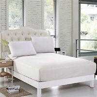 100% Egyptian Cotton 800 TC White 40 cm /16 Inch Deep Fitted Sheet Hotel Quality