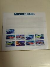 Muscle Cars Sheet of Forever Postage Stamps Scott 4743-47 Rare Vhtf 🔥🔥