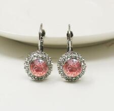 Crystal Round Dangle Stud Charm Hoop Earrings Womens Party Wedding Jewelry Gift