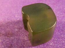 ANCIENT CHINESE- BAN CHIANG GREEN JADE BEAD  PATINA 10.3 BY 8.1 MM WING SHAPE