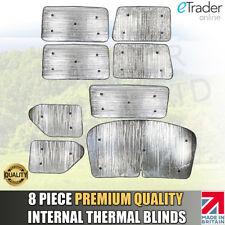 VW T4 THERMAL BLINDS LUXURY 8 PIECE QUALITY INTERNAL BLIND SET COVERS 1990-2003