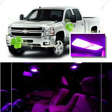For Chevy Silverado 2007-2013 Pink LED Interior Kit + Pink License Light LED