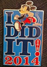 """WDW - 2014 MARATHON """" I DID IT!""""  - MICKEY MOUSE PIN LIMITED EDITION 1000"""