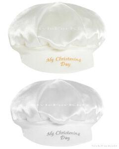 BABY BOYS CHRISTENING HAT IVORY/CREAM,WHITE MY CHRISTENING DAY CAP BAKER STYLE
