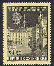 Austria 1966 PTT Centenary/Post Office/Mail/Buildings/Architecture 1v (n38517)