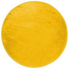 Douceur D'intérieur Louna Tapis Rond Polyester moutarde Diamètre 90 cm
