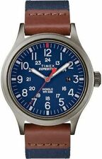 "Timex TW4B14100, Men's ""Expedition"" Blue Fabric Watch, Scout, Indiglo, Date"