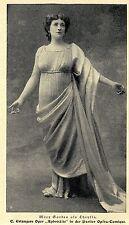 Mary Garden comme Chrysis dans le parisien Opéra-Comique * document illustré 1906