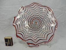"Beautiful Fratelli Toso Murano glass "" wild "" bowl # schöne Murano Glas Schale"
