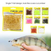 50PCS 5cm Soft Plastic Fishing Lure T-Tail Grub Worm Bait Fish Tackles Accessory