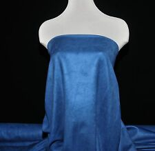 """FAUX SUEDE FABRIC 100% POLYESTER, DOUBLE FACE, SOFT 60""""  BLUE , CLOTHING,CRAFT"""