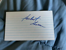 Hubert Green signed index card