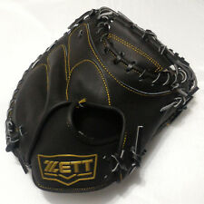 "ZETT 3912 Pro Model Black 34"" Leather Right-Hand Thrower Catcher Baseball Glove"