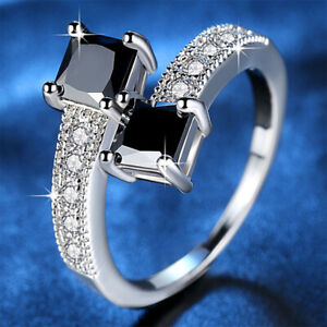 Luxury Real 10K White Gold Filled Rings for Women Fashion Jewelry finger ring