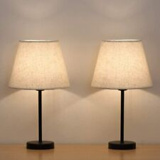 Bedside Table Lamps Small Nightstand Lamps Set of 2 with...