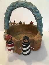 Nautical Lighthouse Ceramic Round Bowl with Handle
