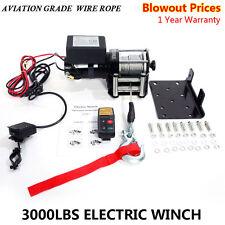 New Classic 3000Lbs 12v Electric Winch for Truck, Trailer SUV Wireless Remote