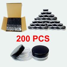 200pcs 3 Gramme Haute Qualité Pots Maquillage Cosmétique Crème Conteneur Bijoux