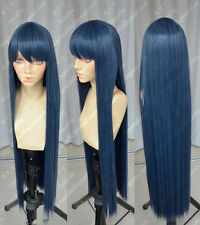 Danganronpa Maizono Sayaka 100cm Blue Black Cosplay Party Wig