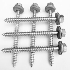 Fassadenbauschrauben Edelstahl Sechskant 9057 VA 13-75 mm Trapezblech 16mm EPDM