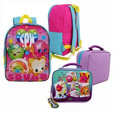 "SPK Shopkins Girls Kids SCHOOL 15"" Book BACKPACK + INSULATED LUNCH BAG NEW"
