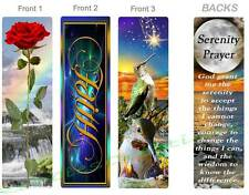 3 Lot-Serenity Prayer Poem BOOKMARK Faith Hope Flower Ocean Art Book Pocket Card