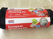 Brand new auto care European motoring travel essential kit In carry case ETK004