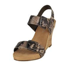 f7d397413d Aerosoles Women's Mega Plush Wedge Sandal Size 9 (b)m Memory Foam Tan Snake