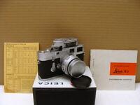 "Leitz Wetzlar - Leica M3 Kit Fat Elmar-M 4/90mm ""intakte single-stroke"" - RAR"