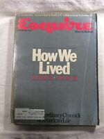 Esquire Magazine 1933 - 1983 How We Lived Anniversary Retrospective Vintage Ads