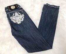 House of Dereon Beyonce Jeans Embellished Pocket Straight Leg Slim Size 5/6
