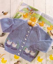 """Baby Toddler Duck Motif Sweater  20"""" - 26"""" 1 - 7 Years DK Knitting Pattern"""