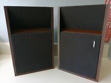 VINTAGE BLACK BOSE 205 BOOKSHELF SPEAKERS DIRECT/REFLECTING FREE FIELD TWEETER