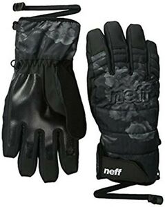 New Neff Womens Digger Snowboard Gloves Large Black Floral