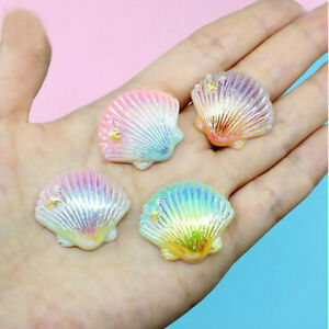 2/10pcs Gradient Mixed Resin Shell Charms Pendant DIY Jewelry Making Accessories