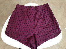 womens high waist shorts L polka dot burgundy black twelve by twelve los angeles