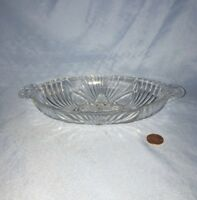 Vintage Pressed Glass Relish Dish Bowl Oval 8.5""