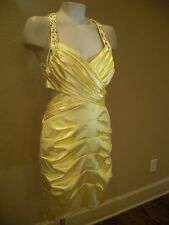 Roberta Yellow  New Cocktail Party Junior Dress Size 9