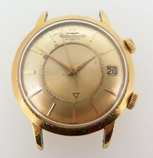Vintage Jaeger Le Coultre Memovox Mens 18k Gold Bumper Automatic Watch $1 NO RES